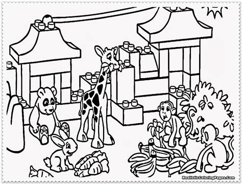 Coloring Zoo by Zoo Animal Coloring Pages Realistic Coloring Pages