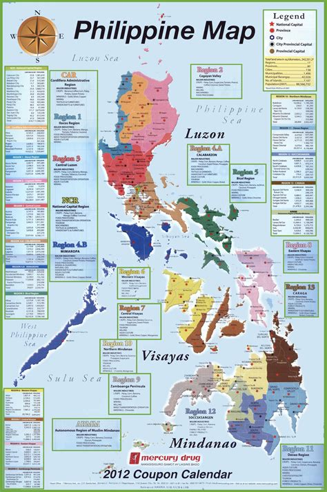 administrative divisions map  philippines