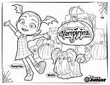 Coloring Disney Vampirina Pages Activity Little sketch template