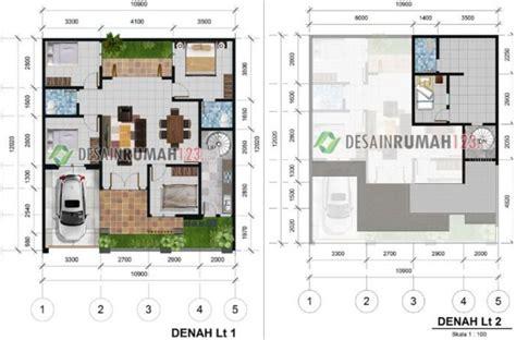 desain rumah  lantai dibangun  lahan