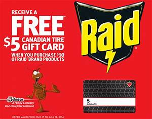 Raid Rebate Offer: $5 Canadian Tire Gift Card When You ...