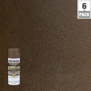 rust oleum stops rust 12 oz protective enamel multi colored textured autumn brown spray paint
