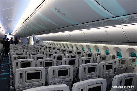 dreamliner cabin interior photo tour of s boeing 787 dreamliner