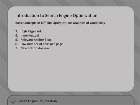 Search Engine Optimization Basics by Search Engine Optimization Basic
