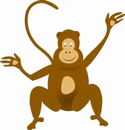 Monkey Clip Clker Clipart Cliparts Svg