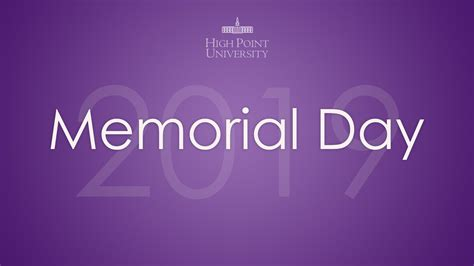 memorial day  high point university high point