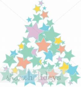 Christmas Tree Star Cluster in Pastels   Christmas Tree ...