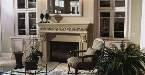 plain kitchen cabinets fireplace with built ins next to it for the home 1530
