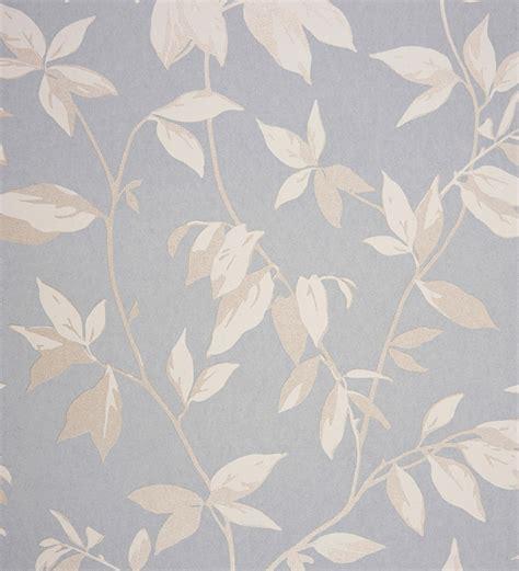 papel pintado hojas de juncos blanco metalizado fondo