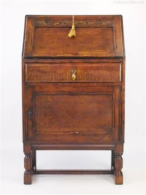 stock bureau direct small oak bureau writing desk antiques atlas