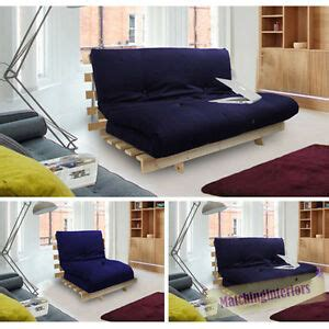 Wooden Frame Sofa Bed by Navy Blue Studio Futon Wooden Frame Sofa Bed Thick
