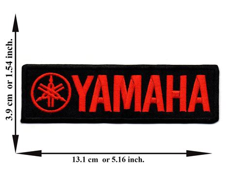 Black + Red Yamaha Biker Rider Motorcycle Racing Logo