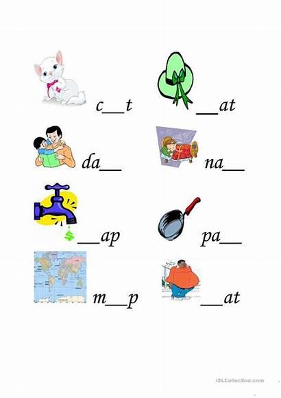 Cvc Words Worksheets Esl Worksheet Ao English