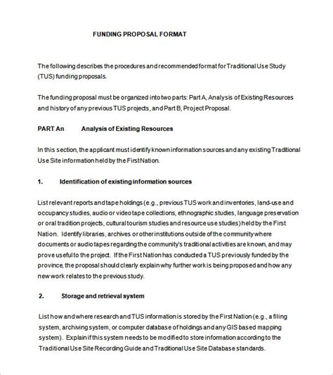 funding proposal templates word  pages