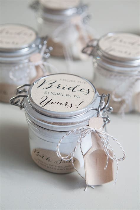 homemade bridal shower party favors learn how to make the most amazing bath salt gifts
