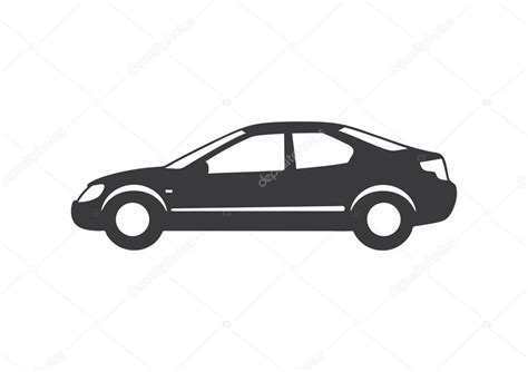 Vector Illustration Of Types Of Cars Silhouette.