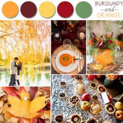 fall wedding colors fall wedding color palette ideas 2014 trends