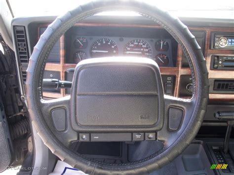 jeep xj steering wheel 1996 jeep cherokee country gray steering wheel photo