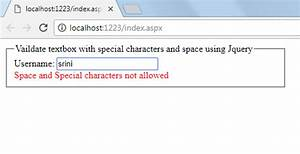 Avoid special characters and space to enter in textbox ...