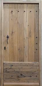 porte d39entree bois massif vieux chene With porte entree bois massif