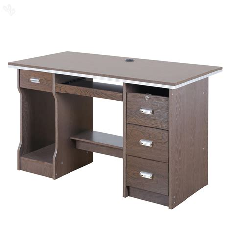office table and chairs buy royaloak acacia office table with honey brown finish