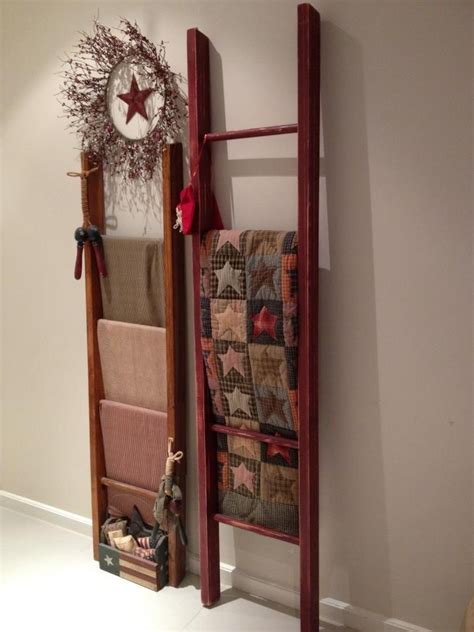 primitive ladder quilt rack woodworking projects plans