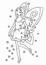 Fairy Coloring Royalty Printable Ziyaret Et sketch template