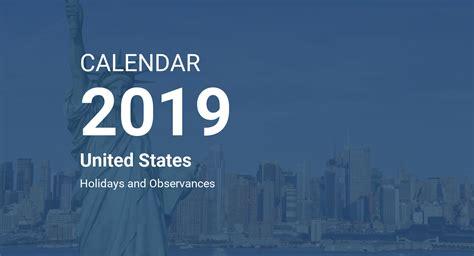 year calendar united states