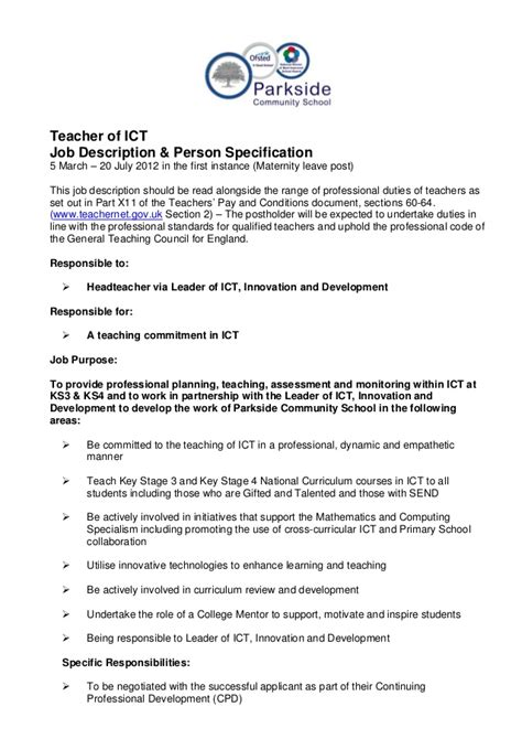 16464 resume templates free description and person specification