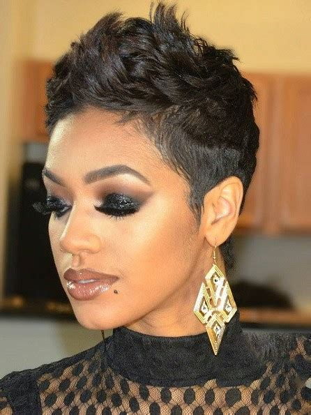 modern pixie hairstyle  black women