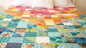 Color Dive Half-Square Triangle Quilt by Anna Maria Horner