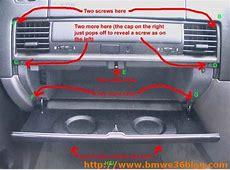 E36316i Removing BMW E36 Glove box