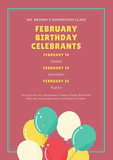 customize  birthday poster templates  canva