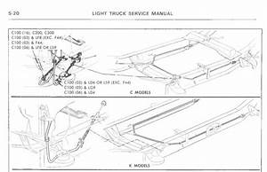 Parking Brake Cable Guide Locations   1975 C10 Shortbed