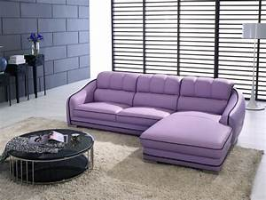 Purple leather sofas purple leather sectional foter thesofa for Modern purple sectional sofa