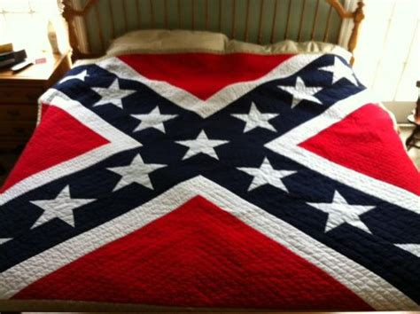 pattern  confederate flag king quilt