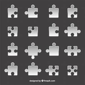 Grey puzzle pieces Vector | Free Download