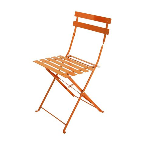 chaise metal maison du monde 2 metal folding garden chairs in orange guinguette