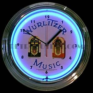 Wurlitzer Jukebox Neon Clock RetroOutlet