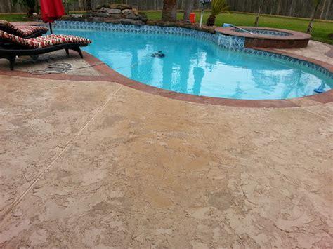 Pool Deck Renovations   Houston Concrete Staining