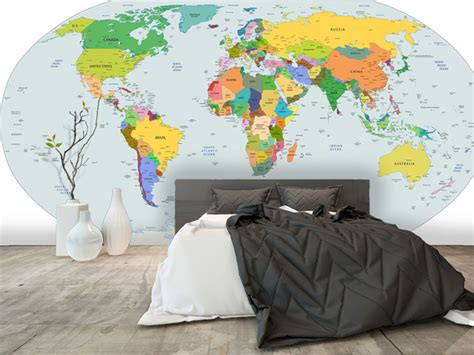 carte du monde murale papier peint carte du monde yeda design
