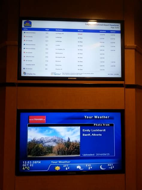 display deploys flight digital signage   western