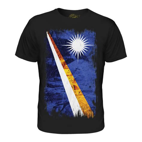 (Black, Medium) Candymix - Marshall Islands Grunge Flag ...