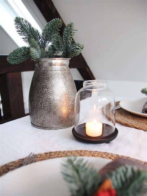 Weihnachtsdeko Tischdeko Ideen by Weihnachtliche Tischdeko Aus Naturmaterialien Design Dots