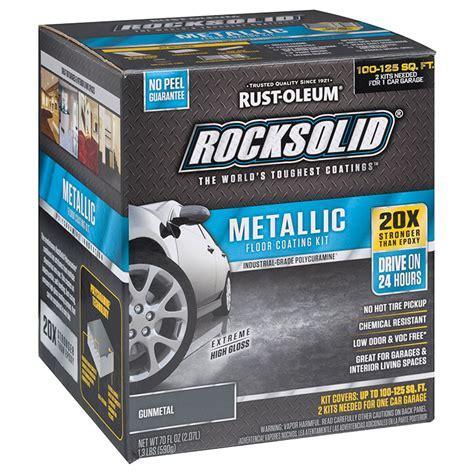 Rust Oleum 299743 RockSolid Polycuramine Metallic Floor