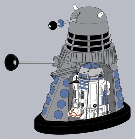r2 d2 hiding inside of a dalek