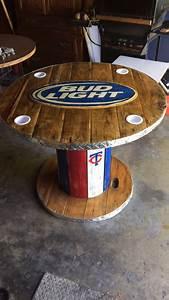 Wooden Spool Bud Light Table Garten Pinterest Mbel