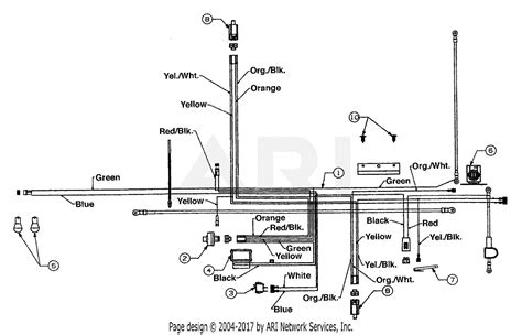 mtd 13an678g016 2002 parts diagram for electrical tecumseh