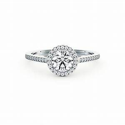 elegant halo style diamond engagement ring in 14k white gold With halo style wedding rings