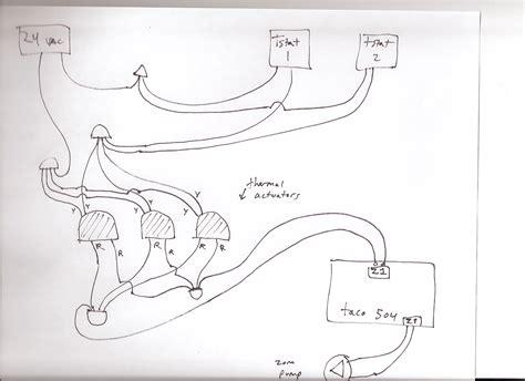 taco valve wiring diagram taco zone valve
